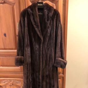 Chestnut Brown ZANDRA RHODES Full Mink Long Sleeve